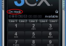 Если в статусе «On Hook» - то настройка прошла успешно.